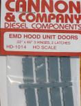 "Cannon 1014 HO Scale Detail Part EMD 22 x 65"" Latched Hood Doors pkg(8)"