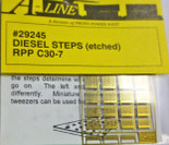 A-Line 29244 HO Scale Etched Brass Diesel Steps For Railpower Shells C30-7