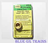 NWSL #402-6 Brass Flywheel for 2.0mm Shaft 16mmX8mm OD