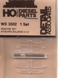Detail Associates 3302 HO Scale Window Set Athearn Baldwin S-12