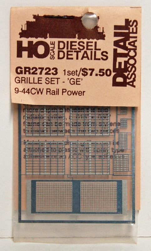 Detail Associates 2723 Air Grilles - GE C44-9 Railpower HO Scale