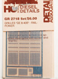 Detail Associates 2718 Air Grilles - GE Dash 8-40B HO Scale