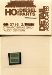 Detail Associates 2716 Brake Grids - For ALCO Century Series HO Scale