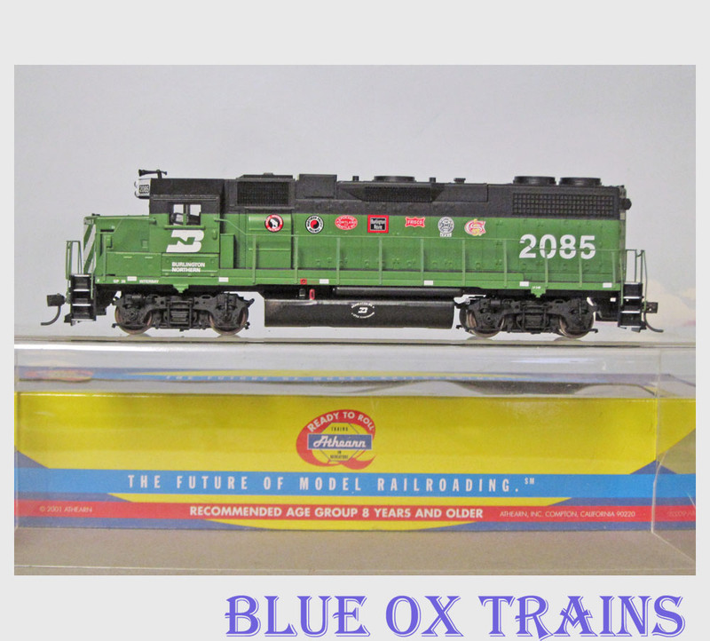 ATHEARN 8001 RTR Burlington Northern GP38-2 Diesel Locomotive BN 2085 HO Scale
