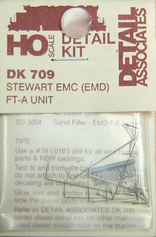 Detail Associates 709 Diesel Detail Kit 'EMC' (EMD) FT-A Unit Stewart Ho Scale