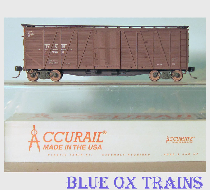 Accurail RTR 4317 Delaware & hudson 40' OB Boxcar D&H 4317 Built HO Scale