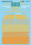 Microscale Decal 87-104 Seaboard SAL Diesels - Cabs - Citrus Scheme