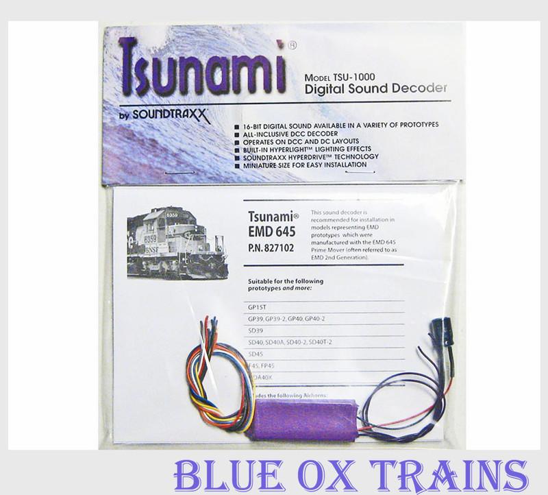 Soundtraxx Tsunami TSU-1000 EMD 645 Diesel Sound Decoder 827102