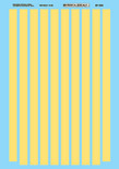 "Microscale Decal 87-534 WC Diesels stripes-Diesel - Striping - 30"" Width"