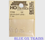 "Detail Associates 1709 Clear Classification Lights pkg(12) 7"" (.080"") Diameter Diameter Ho Scale"