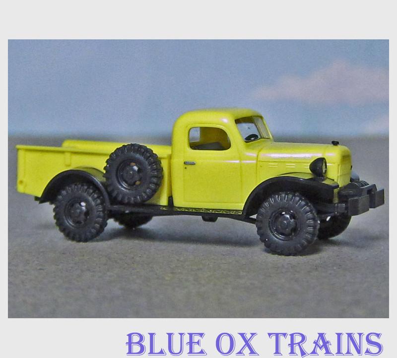 Busch 44000 HO 1945-1968 Dodge Power Wagon 4x4 Pickup Truck - Assembled Yellow