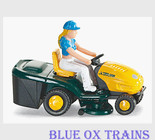 Wiking 39501 MTD Riding Lawn Mower - Assembled Yellow Green HO Scale 1:87