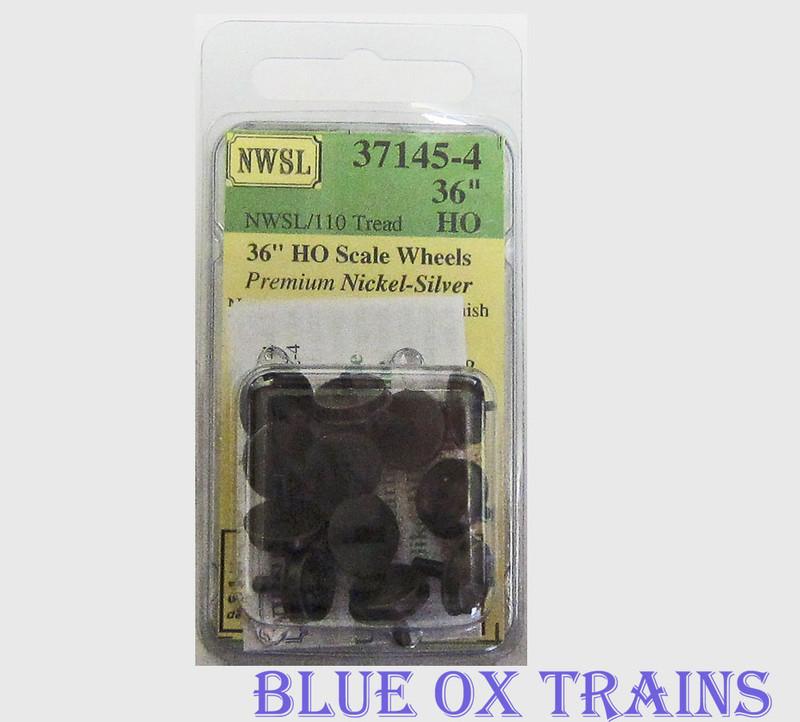 """NWSL 37145-4 Life-Like Proto E7/8/9 -36""""/110 Half Axle, wheels (Newer) HO Scale"""