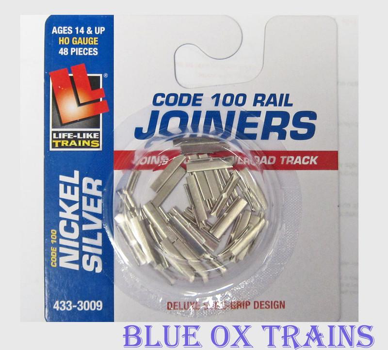 Life Like 3009 Track Rail Joiners 48 pcs HO Scale