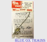Cal Scale 268 Steam Loco Throttles Front End w/Rods & Guides (Brass Castings) Ho Scale