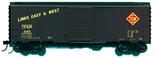 Branchline Blueprint #1610 HO Scale 40' AAR Boxcar Kit Toledo Peoria & Western TP&W 7' Door