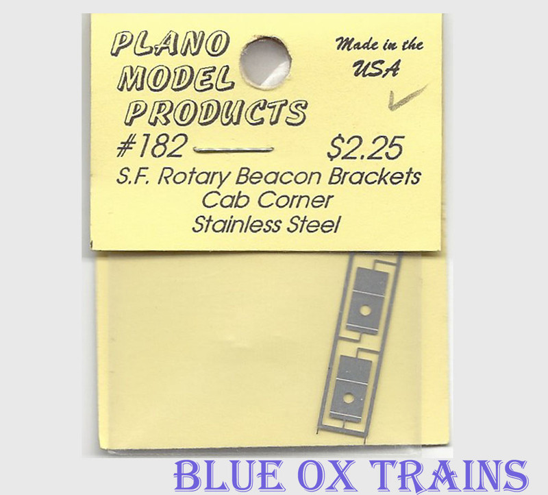 Plano Model 182 Rotary Beacon Light Bracket - Cab Corner Ho Scale Ho Scale