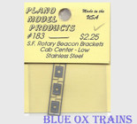 Plano Model 183 Rotary Beacon Light Bracket - Cab Center - Low Ho Scale Ho Scale