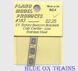 Plano Model 183 Rotary Beacon Light Bracket - Cab Center - Low Ho Scale Ho Scale