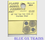 "Plano Model 467 48"" Flat Top Fan Grilles (Photo-Etched Stainless Steel) Ho Scale"