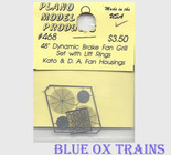 "Plano Model 468 48"" Dynamic Brake Fan Grilles w/Lift Rings (Photo-Etched Metal) Ho Scale"