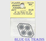 "Plano Model 473 48"" Blade Fans for Proto 2000 GP30 10 Blade Style Ho Scale"