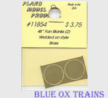"Plano Model 11854 48"" Fan Blanks, Weld on Style Ho Scale"