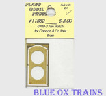 Plano Model 11882 Fan Hatch for Cannon Thin Wall Fans (Brass) For GP38-2 Ho Scale