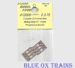 Plano Model 12005 Coupler Cut Bars Sliding Style #1 (Phosphor Bronze) 3 Sets Ho Scale