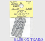 "Plano Model 14651 Stainless Steel Lift Rings pkg(48) 3-3/8 x 1-3/4"" Ho Scale"