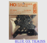 Detail Associates 6624 Trucks 41 CUDO Outside Swing Hanger Less Wheels Kit HO Scale