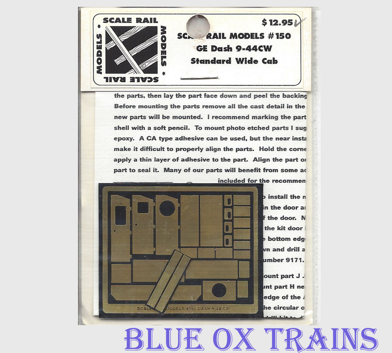 Scale Rail Models 150 GE Dash 9-44CW Standard Wiide Cab Brass Kit HO Scale