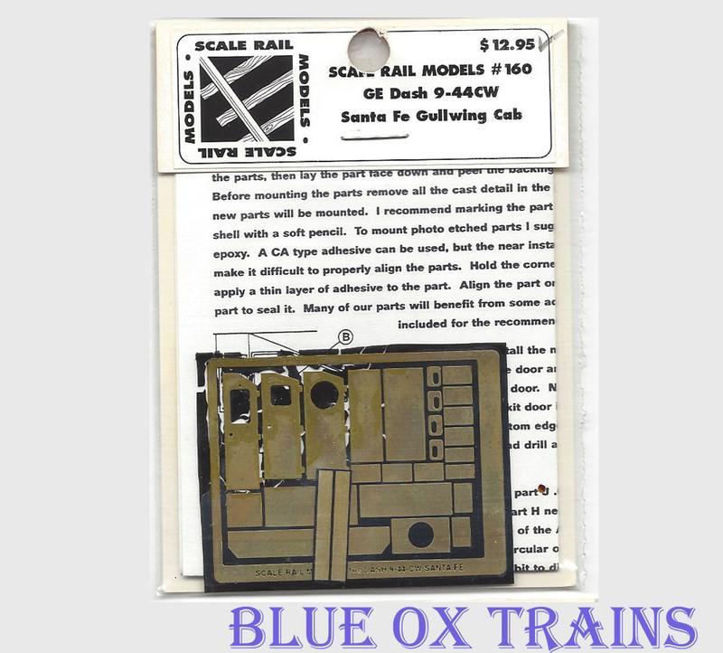 Scale Rail Models 160 GE Dash 9-44CW Santa Fe Gullwing Cab Brass Kit HO Scale