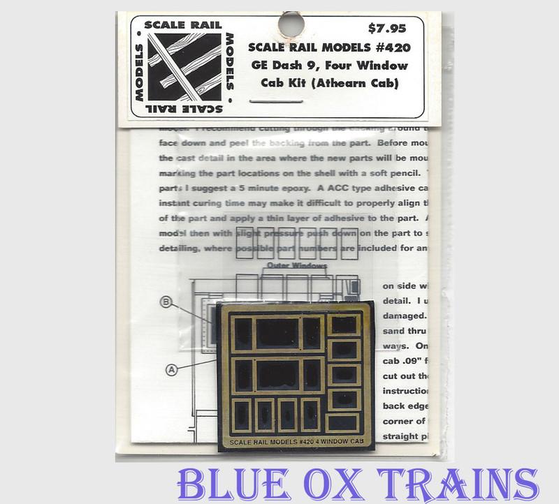 Scale Rail Models 420 GE Dash 9 Four Window Cab Kit Athearn HO Scale
