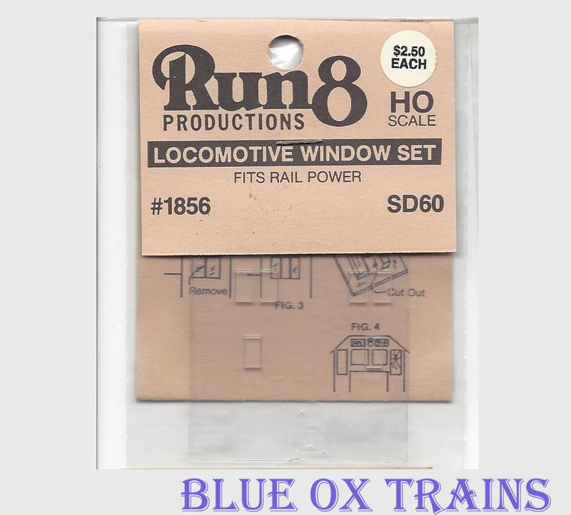 Run8 1856 Window Set - SD60 Rail Power Kit HO Scale