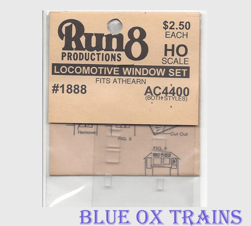 Run8 1888 Window Set - AC4400 Rail Power Kit HO Scale
