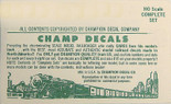 Champ HB-515 HO Decals Santa Fe Green 50' Express Box Car ATSF