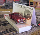 Busch 5643 HO 1950 Chevy Pickup Truck with Working Lights - Assembled Red