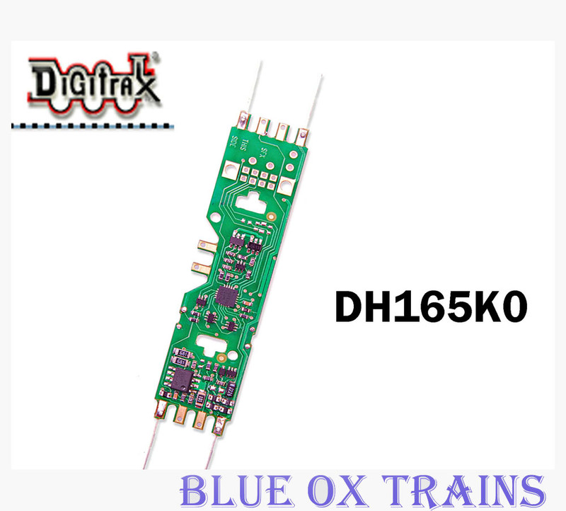 Digitrax DH165K0 1.25 Amp Mobile Decoder for Kato, Stewart, Atlas & Other HO Scale