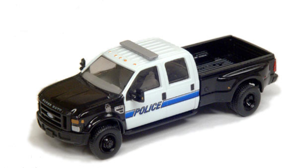 River Point Station 1:87 2008 Police Ford F350 4X4 Pickup Truck HO Scale