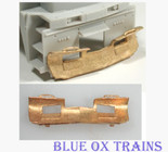 Cal Scale 568 Snow Plow Fits Second Generation Diesels (Brass Castings) Ho Scale