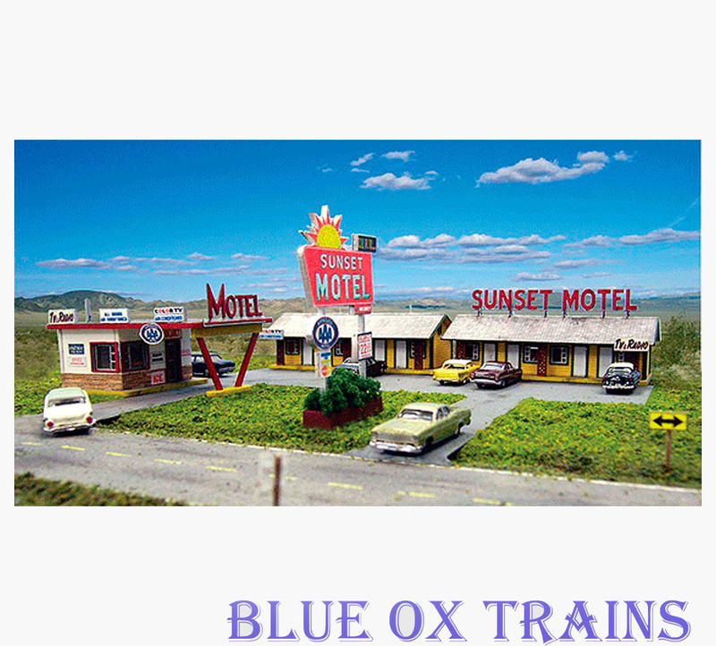 Blair Line 2001 Sunset Motel Laser Cut Kit HO Scale