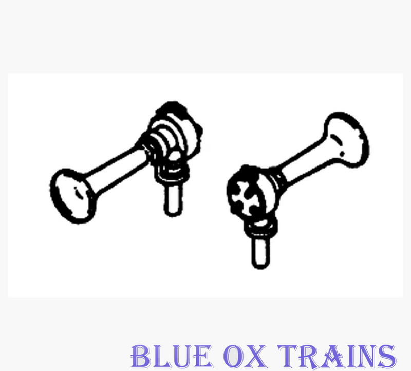 Details West 173 Air Horn Flat Type, Single-Chime pkg(2) HO Scale