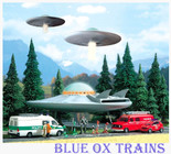 Busch 1010 HO UFO Flying Saucer - Kit With Working Lights & 5 Alien Figures