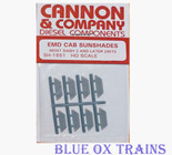 Cannon 1551 EMD Cab Sunshades Most Dash 2 and Later Units