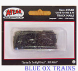 """Atlas 2540 Track Nails Number 19, 1/2"""" long, round head, black oxidized steel."""