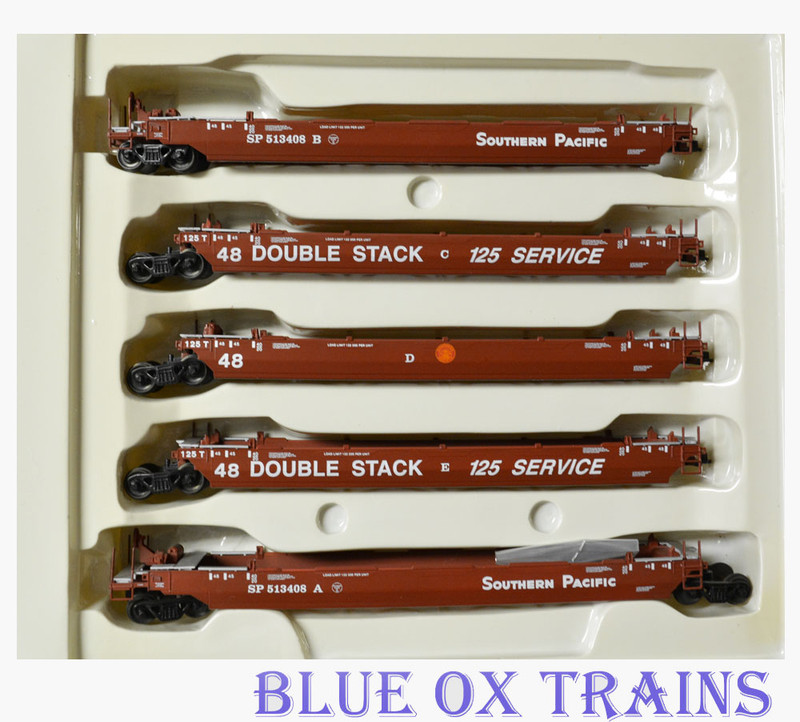 Con-Cor 513408 Southern Pacific Twin Stack  Container Cars SP HO Scale