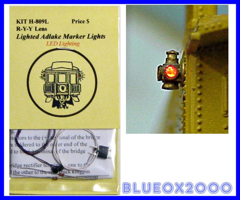Tomar Industries H-809L HO Adlake Marker R-Y-Y Lights