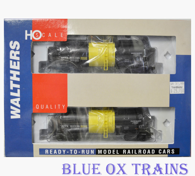 Walthers 932-27205 HO Allied Sigl-Sulpher Funnel Flow Tank Car 2 Pack
