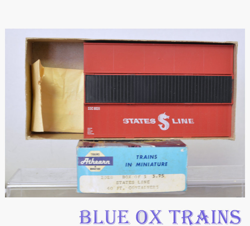 Athearn 2028 States Line 40' Containers 3 Pack HO Scale